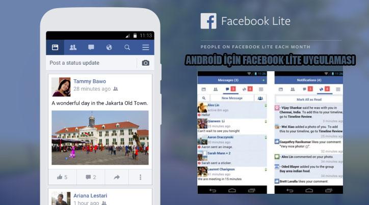 Android telefon ve tabletlerde daha az veri harcayan Facebook uygulaması
