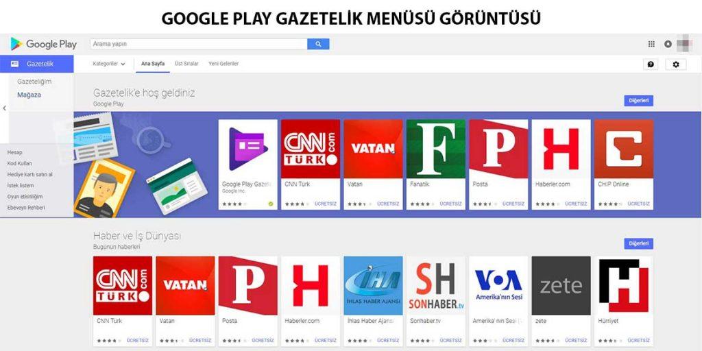 google-play-gazetelik-menüsü-görüntüsü