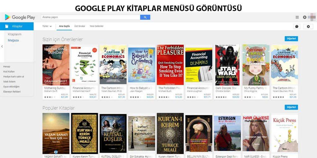 google-play-kitaplar-menüsü-görüntüsü